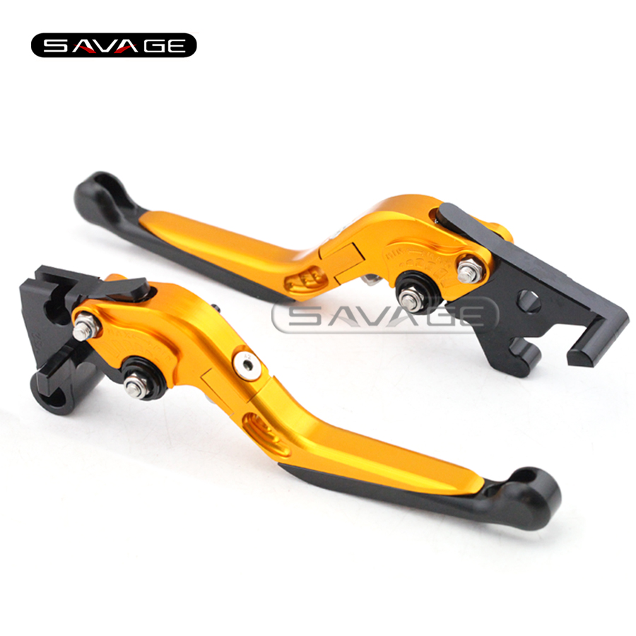 For YAMAHA YZF-R25 YZF-R3 YZF R25 R3 Motorcycle Accessories CNC Adjuster Folding Extendable Brake Clutch Levers Gold+Black