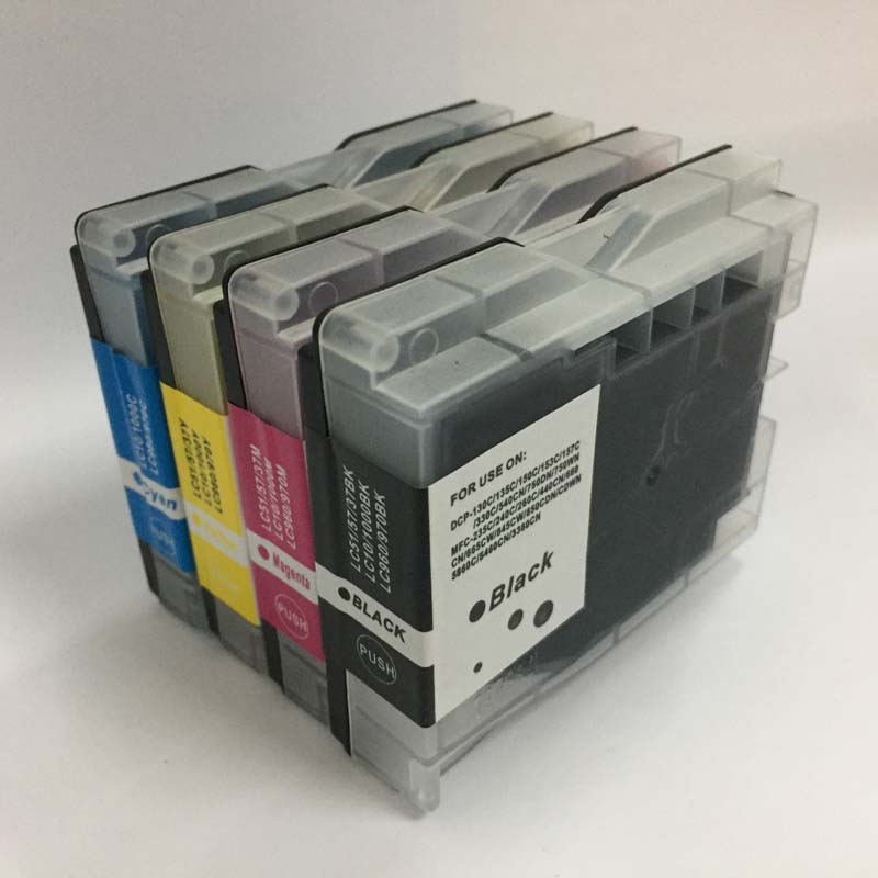 Vilaxh For Brother LC37 LC51 LC57 LC960 LC970 LC1000 ink cartridge compatible for Brother DCP 135C MFC 235C MFC 240C FAX 1355 in Ink Cartridges from Computer Office