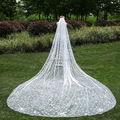 3 Meters 1T Cathedral Wedding Veil Long with Comb Petals Bridal Accessories velos de novia voile mariage veu de noiva longo New