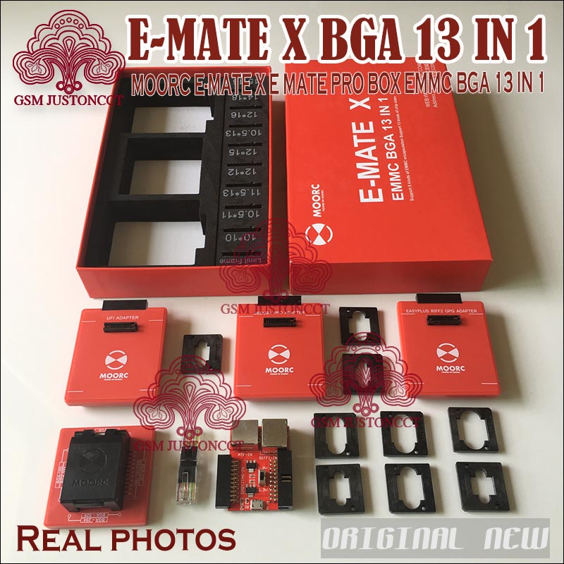 New MOORC <font><b>E</b></font>-<font><b>MATE</b></font> X <font><b>E</b></font> <font><b>MATE</b></font> PRO <font><b>BOX</b></font> EMMC BGA 13 IN 1 SUPPORT 100 136 168 153 169 162 186 221 529 254 image