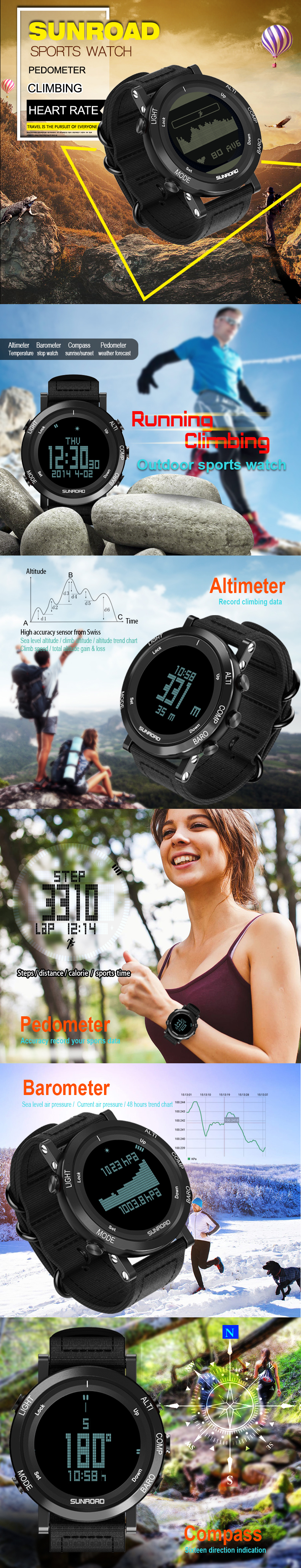 SUNROAD FR922 Heart rate sports watch description photo 01