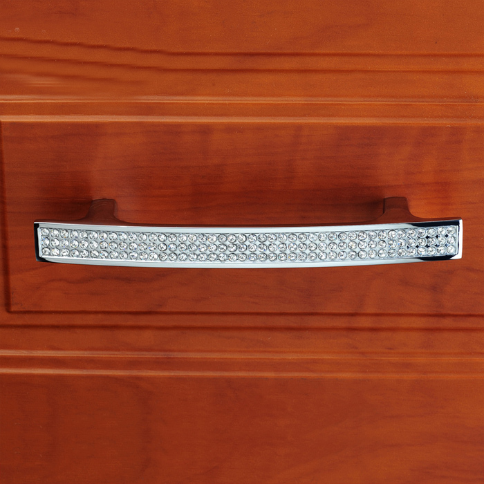 96mm Crystal Kitchen cabinet handle Wardrobe Knob Glass Crystal Drawer Knob furniture handle Pull crystal zinc alloy phoenix kitchen cabinet drawer knob furniture handel