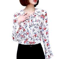 S-XXL Sonbahar Saray Tarzı Pilili Şifon Bluz Kadın Moda 2017 Trompet Kollu Sarı Beyaz Şifon Gömlek Kadın Blusas