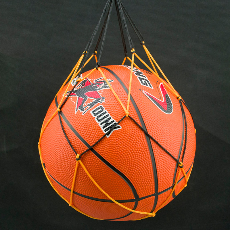 2018 New Stretch Black And Yellow Color Soccer  Ball Net Bag Thick Nylon Basketball Net Pocket 10pcs/pack