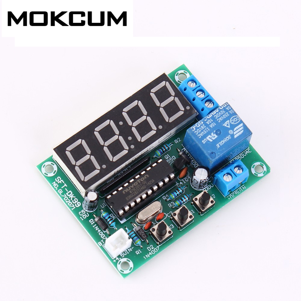 4Bit 0.5in DC 3.5V-5V LED Electronic Clock Module 24 Hours Timer 51 Single-Chip Microcomputer Cycle Timer Switch