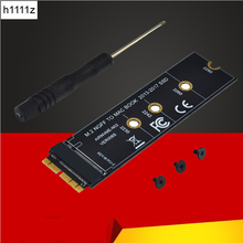M key M.2 NGFF PCIe AHCI SSD Adapter Card for MACBOOK Air 2013 2014 2015 2017 A1465 A1466 Pro A1398 A1502 A1419 2230 2280 SSD M2