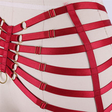Red Garters Body Belt Harness Fetish Dance Wear