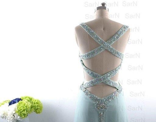 Élégant mode robe de bal a-ligne perles cristaux livraison gratuite Elie Saab longue robe de bal robe de soirée robes Occasion - 4