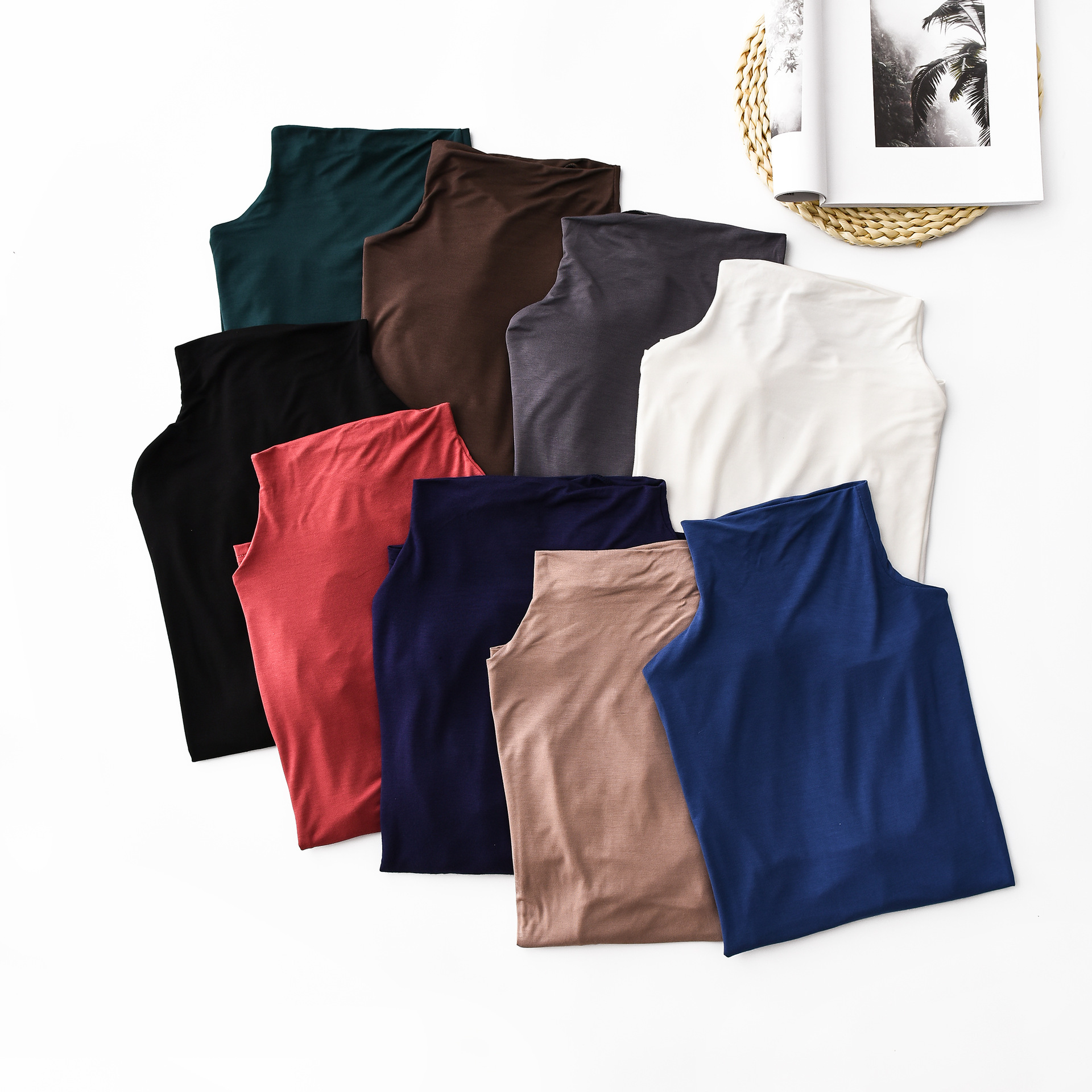 98 Cotton Summer Solid Color Basic Tees Women High Stretch Slim Fit T shirts Loose Turtleneck Tops Short Sleeve Korean Fashion in T Shirts from Women 39 s Clothing