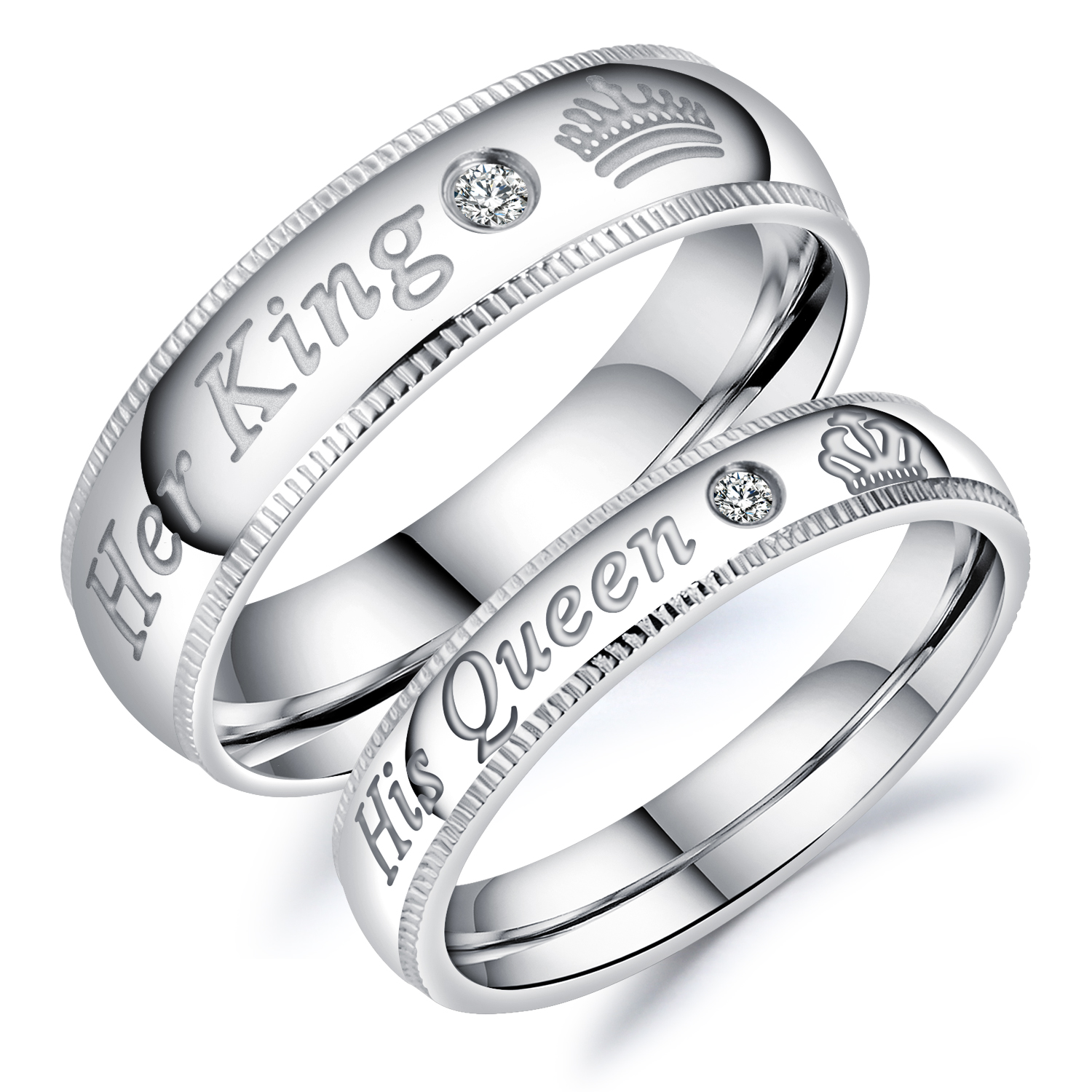 ring wedding fashion evermarker jewelry rings products az titanium steel engagement couple
