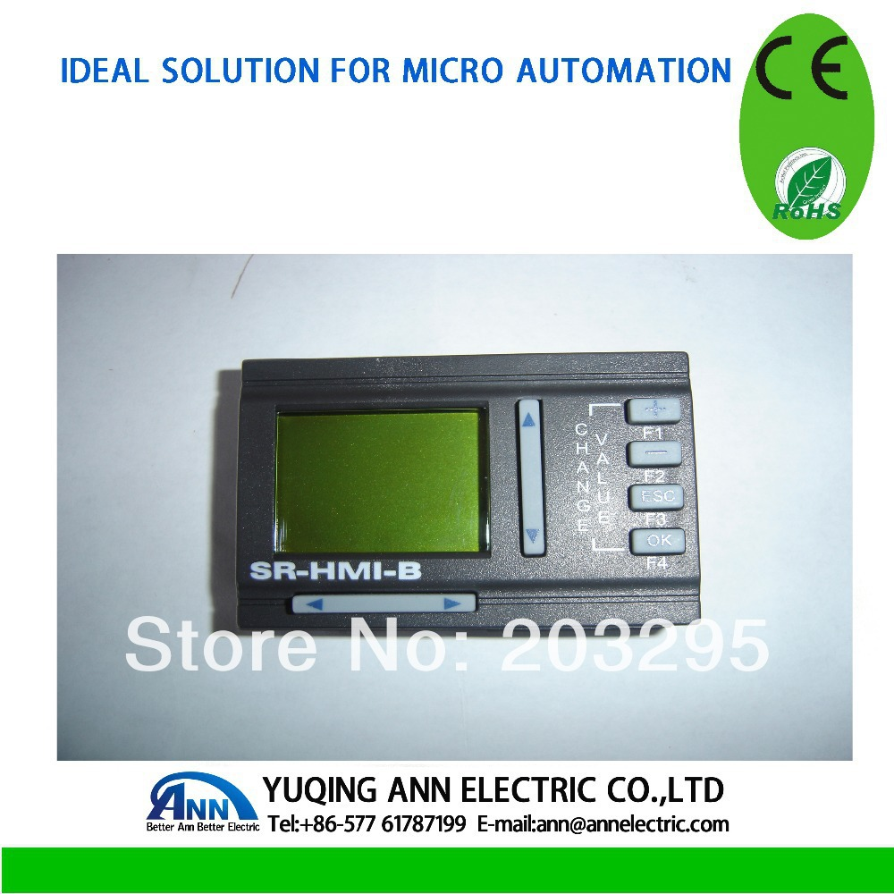 PLC  HMI SR-HMI,monitor operator panel plc programmable logic controller module and 3 5 inch hmi learning plan hmi plc