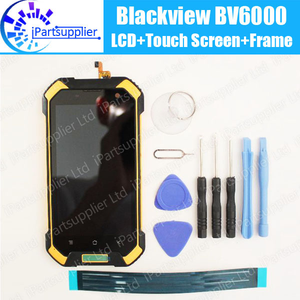 ФОТО Blackview BV6000 LCD Display+Touch Screen+Frame+Earpiece 100% Original Digitizer Assembly Accessories For BV6000+tools+adhesive