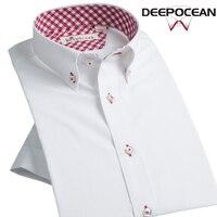 New Fashion Men Shirt White Business Shirt Mens Casual Cotton Shirt Short Sleeve Slim Korean Style Business Shirts DDX35514SS