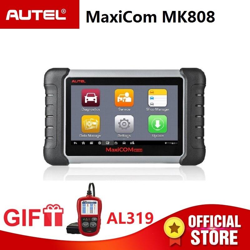 Autel MaxiCOM MK808 OBD2 Diagnostic Tool ODB2 scanner automotive code reader key programming IMMO DPF TMPS PK MX808 Gift AL319 цены