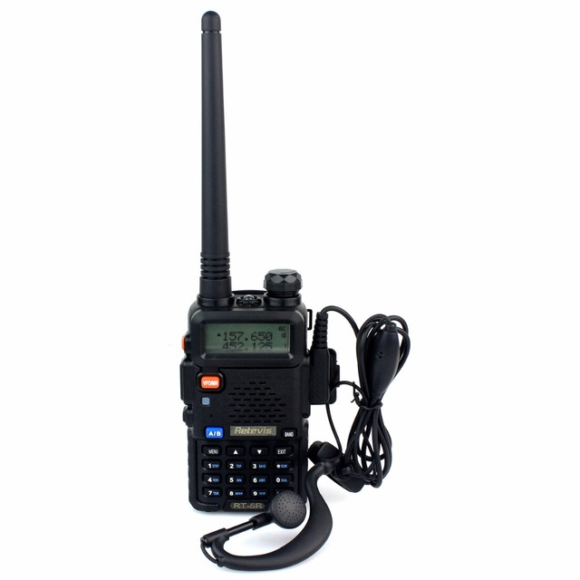 Walkie Talkie Retevis RT 5R рации КВ Трансивер 128CH УВЧ + УКВ DTMF Рация Handy cb Радио Comunicador A7105A