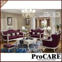 Europe Style Living Room Sofa Elegant And Rational Leather Sofa