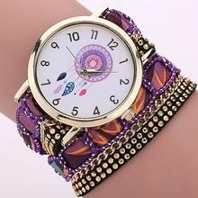 Gnova Платиновый большой ремешок большой циферблат местный этнический стиль мексиканский atrapasueno Модные женские наручные часы кружевной браслет часы A295