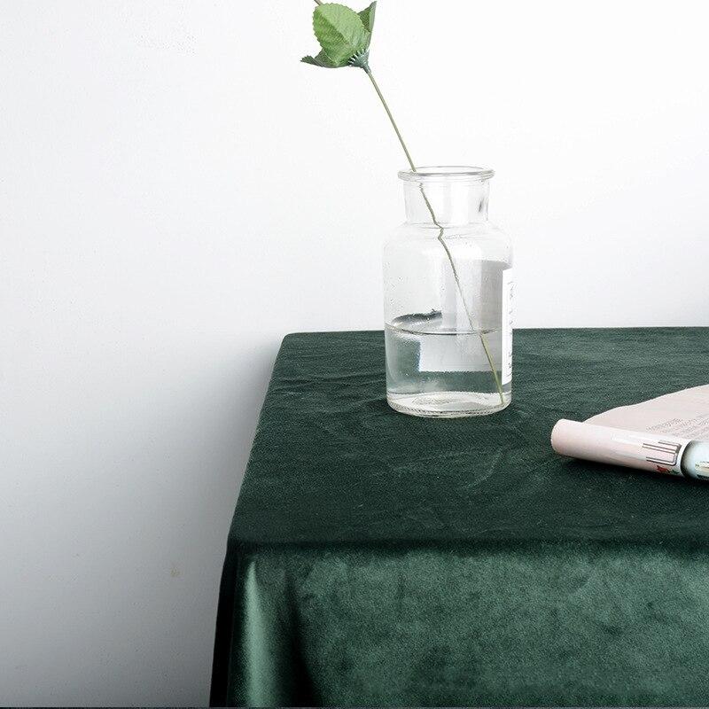 Novo requintado sólido veludo toalha de mesa estilo nórdico tv corredor jantar chá final qualidade dustproof 1pcs capa de mesa