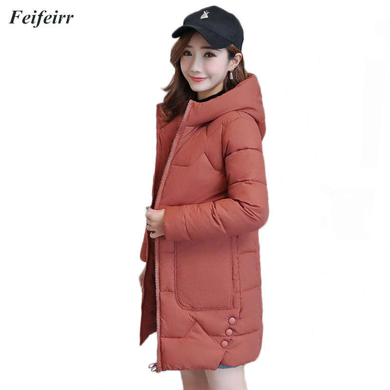 Fashion Coats Winter Women 2018 New hooded warm coat plus size Long Thicken Down Cotton Padded Jacket Outwear   Parkas   feminina