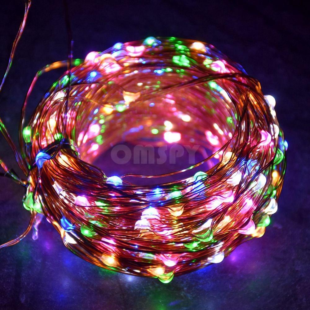Réz String Light 10M / 20M / 30M / 50M DC12V Karácsonyi Fairy - Üdülési világítás - Fénykép 2