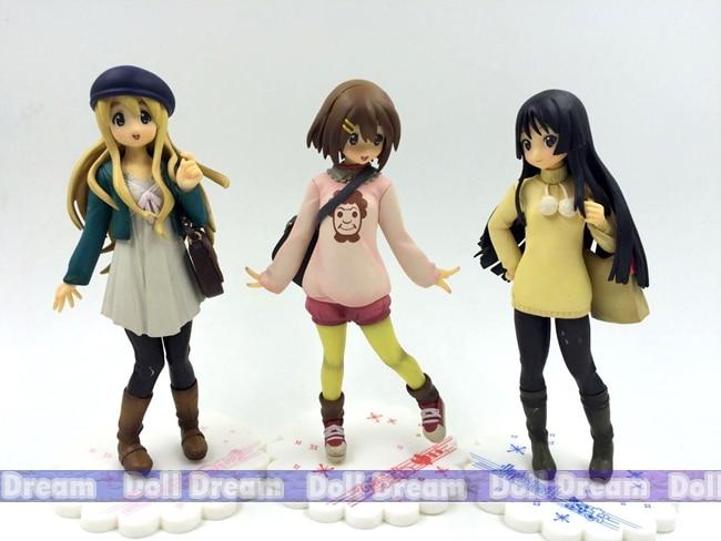 16.5cm Japanese anime <font><b>figure</b></font> <font><b>K-on</b></font>!Akiyama Mio/Hirasawa Yui/Kotobuki Tsumugi <font><b>action</b></font> <font><b>figure</b></font> collectible model toys