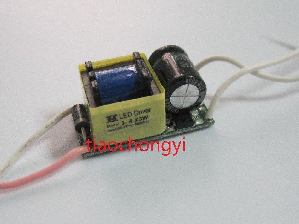 10pcs 3-4x3W Watt High Power LED Light Lamp Driver Power Supply 85-265V 600mA St
