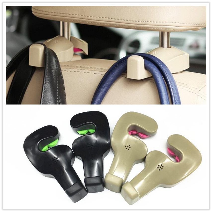 2pcs Car Shopping Bag Holder Seat Hook Hanger For <font><b>Honda</b></font> CRV <font><b>Accord</b></font> HR-V Vezel Fit City Civic Crider Odeysey Crosstour Jazz Jade image