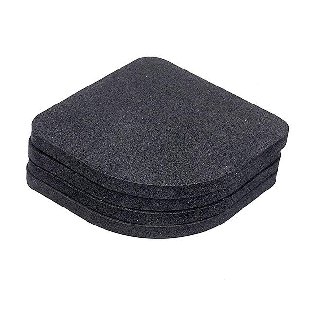 4pcs/set Quality Bathroom Mat Bathroom Carpet Pads Bathroom Set Carpet Anti-vibration Pad  Bathroom Carpet Bath Mat 1