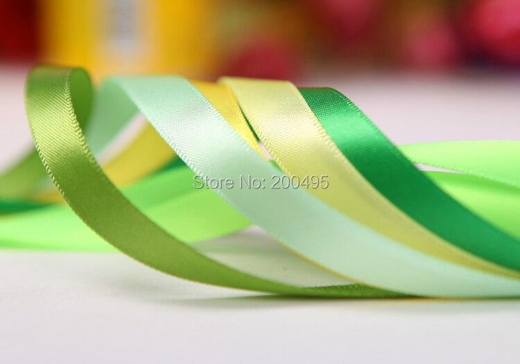 "[IuBuFiGo] 3/""(9 мм) double Face атласная лента ФИТА де СЕТИМ decoradas DIY атласной ленты 100 Двор/рулон"