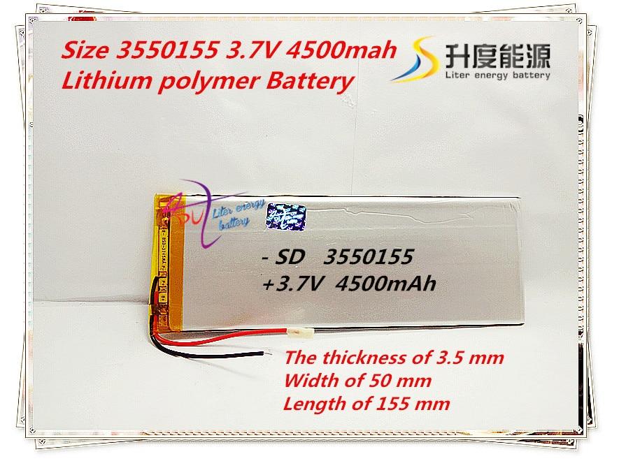 Geschickt Liter Energie Batterie 3,7 V Lithium-polymer-batterien 3550155 4500 Mah Universal Batterie Marke Tablet Pc Lithium-polymer Batterien Um Jeden Preis Stromquelle Unterhaltungselektronik