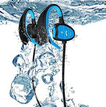 MS Newest Bluetooth Earphones Wireless Sport IPX8 Waterproof 8G TF Card MP3 for Swiming/Cycliing/Running/Hiking,CSR 8635,