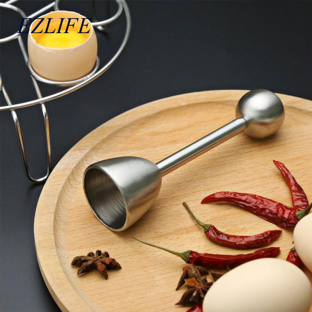 EZLIFE Egg Opener Creative DIY Egg Cutters Stainless Steel Egg Opener Raw Cracker Separator Egg Opener Kitchen Tool Accessories