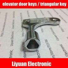1 pièces clés de porte dascenseur/clé triangulaire/clé universelle de train