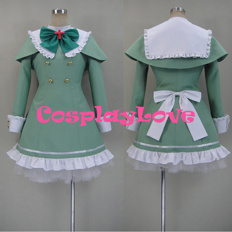New Custom Made Japanese Anime Tantei Opera Milky Holmes TD Hercule 'Elly' Barton Cosplay Costume For Halloween Christmas