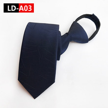 Popular Mens Necktie Zipper Lazy Neck Tie Slim Solid Narrow Casual Skinny