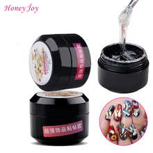 1pc Supper Sticky Soak off UV Gel Adhesive Glue for Rhinestone Cured by UV/Led Nail Lamp Clear Lacquer Ongle Decoration Tool