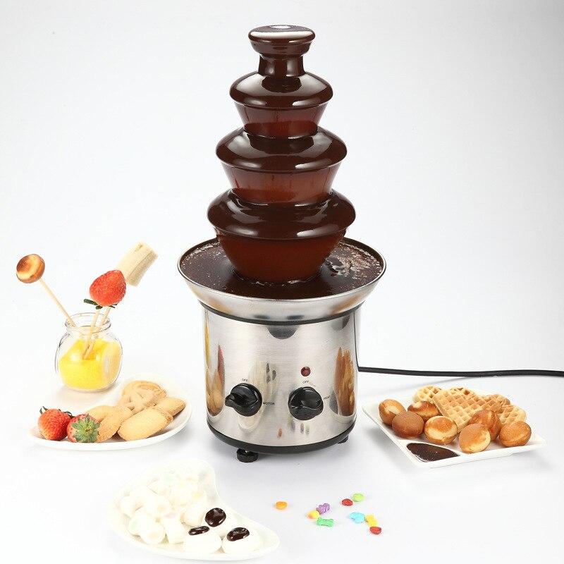 Machine de fusion de chocolat de matériel d'acier inoxydable de cascade de chocolat de 5 couches de fontaine de chocolat de 220 V