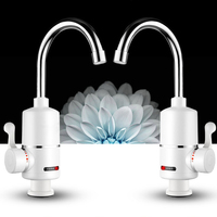 2000W Tankless Electric Hot Water Heater Faucet 3 Seconds Fast Heat Water Faucet Tap for Kitchen Bathroom Under/Lateral Inflow
