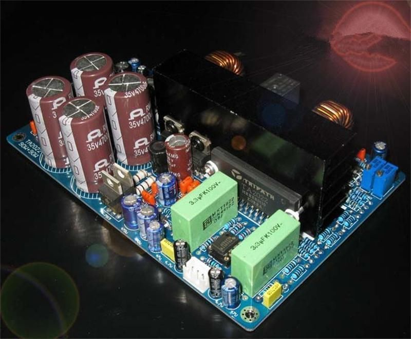 TA2022 dual channel digital Audio power amp board 5532 protection 90W*2 цена