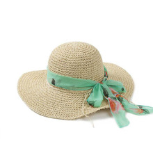 Factory direct and free shipping new women's sun hat summer beach hat large wide brim straw hat folding soft