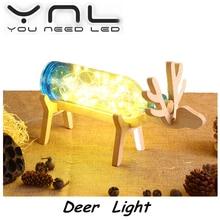 Night Light Cartoon Deer LED USB