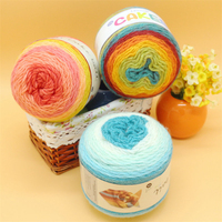 Rainbow Thick Wool Crochet Yarn For Hand Knitting Laine Thread Acrylic Wol Needlework Scarf Sweater Blended