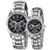 Marca de Luxo Da Moda 1 Par Relógio Amantes Women & Men Jóias De Quartzo Diamante relógios de Pulso Calendário 24 Horas de Presente Dos Namorados relógio