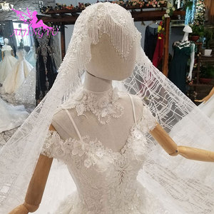 Image 3 - AIJINGYU Shiny Wedding Dresseses Real Photo Modest Bridals Indian Sexy Prijs Big Size Tuin Gown Trouwjurk Accessoires