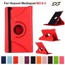 Case for Huawei MediaPad M3 8.4/ NTT docomo dtab d-03G 360 Degree Rotational Protective Case Cover for Huawei M3 8.4 inch(China)