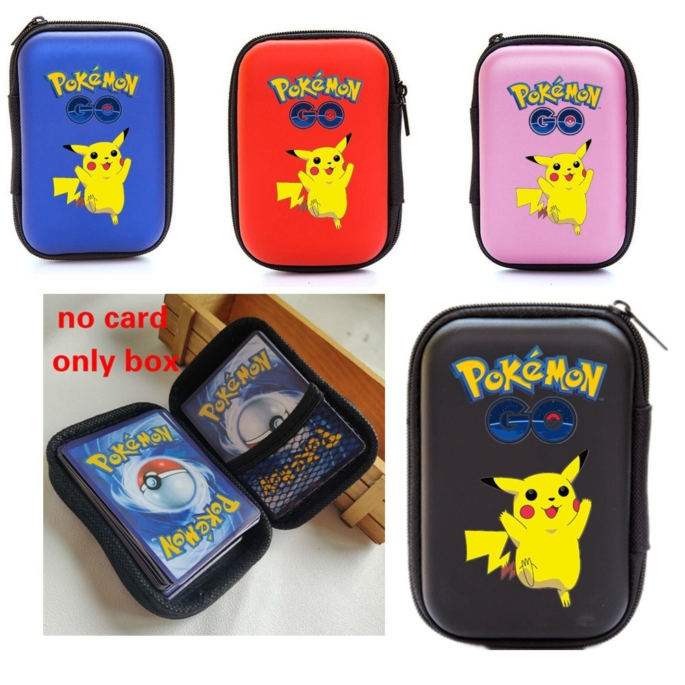 100 Capacity Cards Holder Album Notebook Hard Case Card Holder For Pokemon Pikachu Magic Yugioh Board Game Cards Book Holder(China)