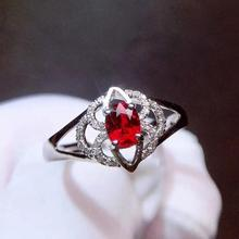 Ruby Ring Pure 18 K Gold Jewelry Real Natural 0.5ct Red Ruby