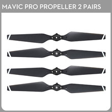 2Pair Mavic Pro Propellers Folding Quick Release Propellers for DJI Mavic Pro Drone 8330 Black with white Stripes