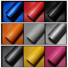 30x127cm Sticker Car Styling Car motorcycle Carbon Fiber Vinyl Wrapping DIY 3D for Volkswagen VW Golf 4 5 6 toyota ford focus 2