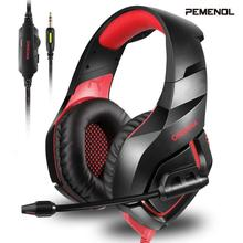 Pemenol K1 B PS4 Gaming Headset Casque Wired PC Stereo Earphones Headphones With Mic Game Earbuds For Computer Nex Xbox Tablet